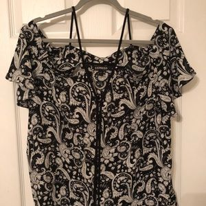 Express size large shirt, black and white